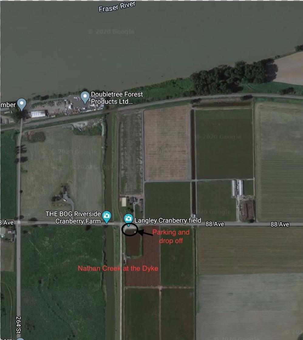 Nathan Creek location map