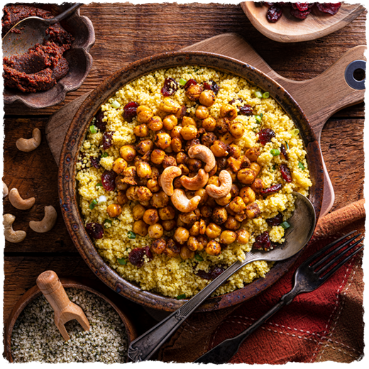 Cashew Curry Couscous (Vegan)