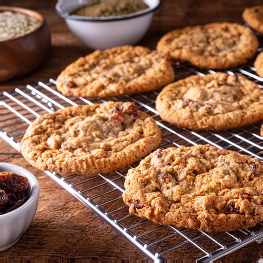 Oatmeal Raisin Hemp Cookies