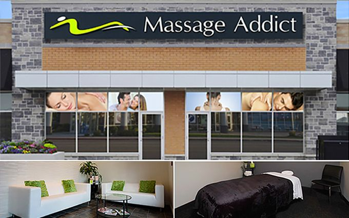 Massage Addict franchising banner