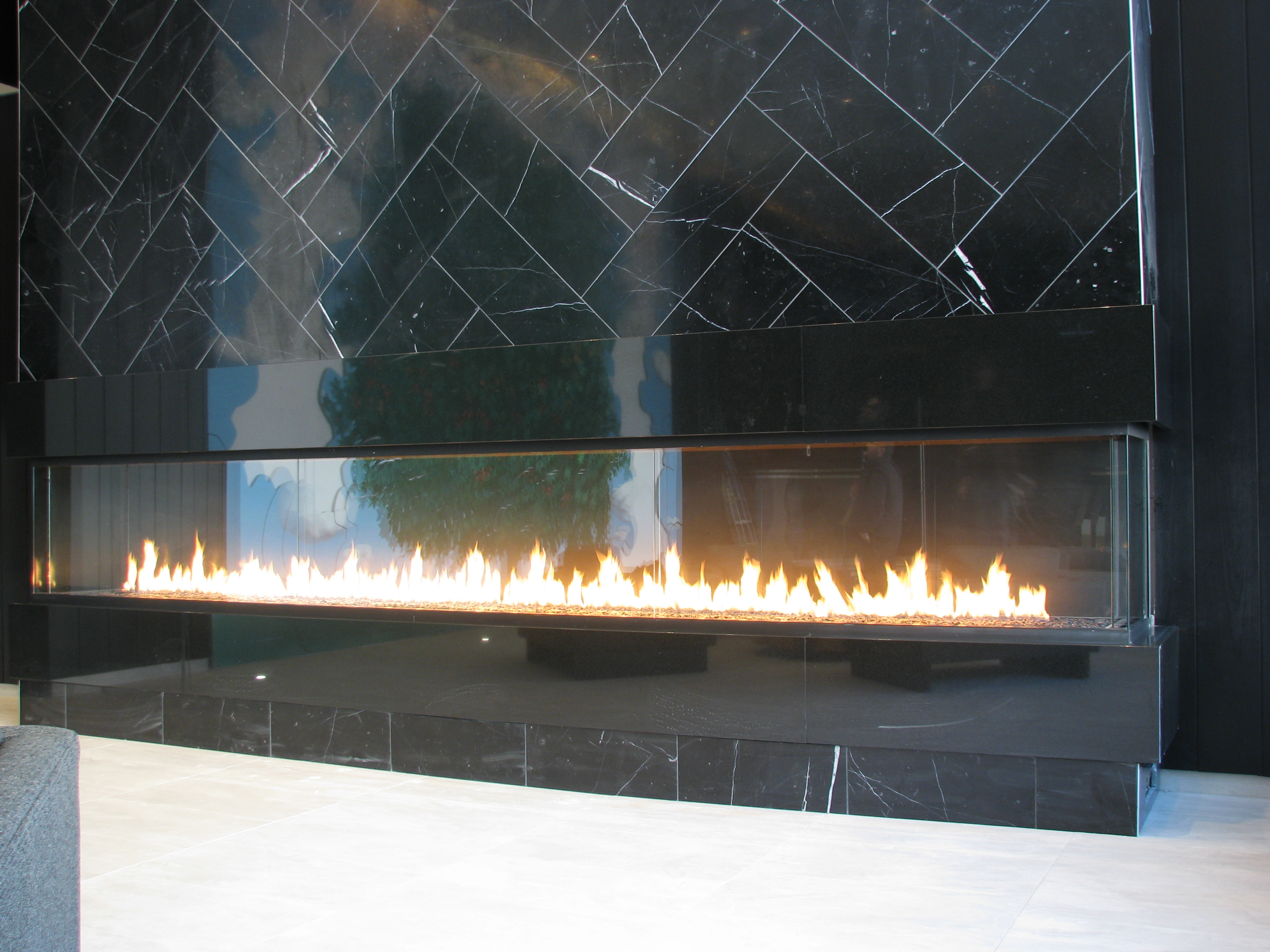 Custom Fireplace Lobby
