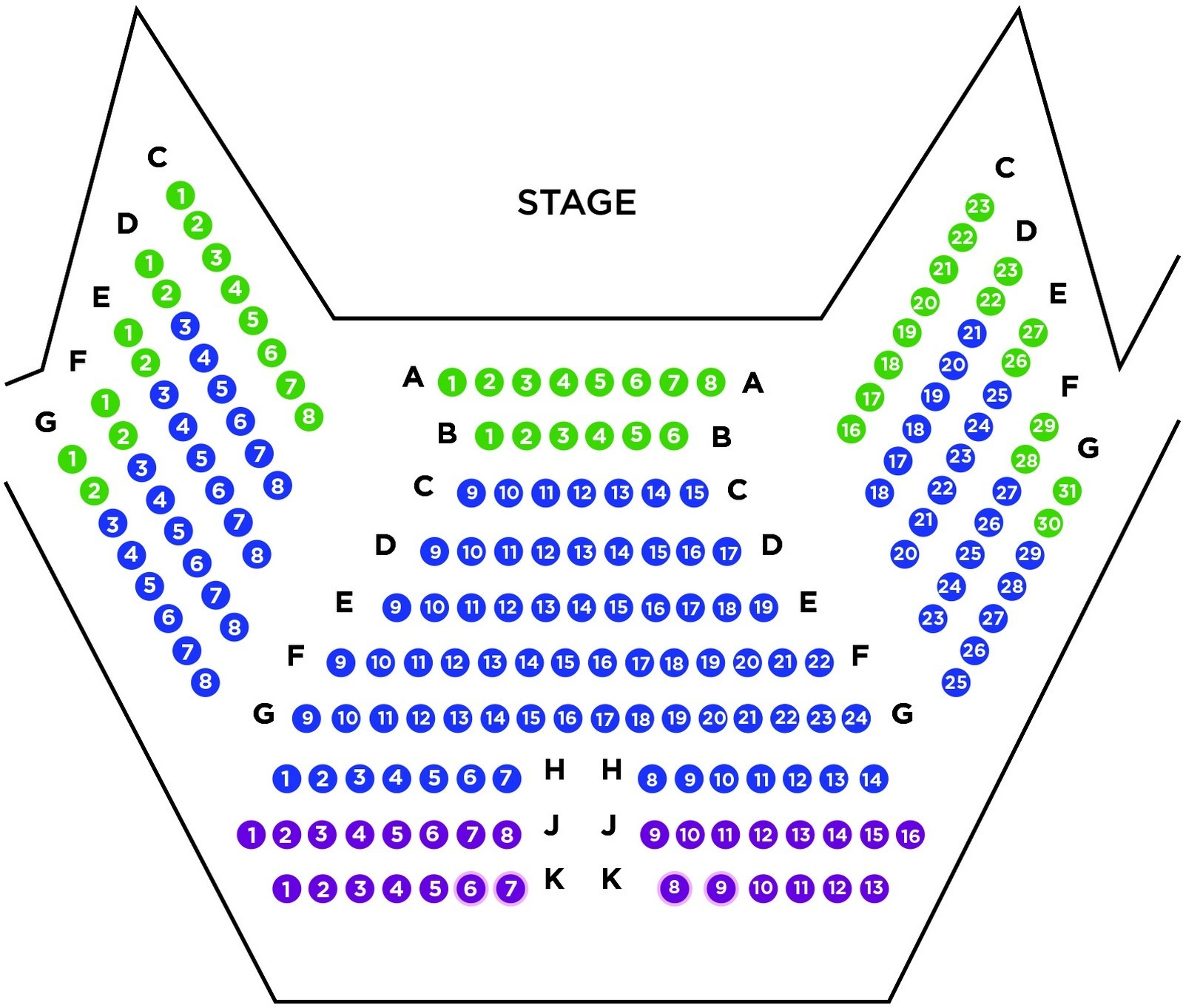 Scotiabank Stage Seat Map