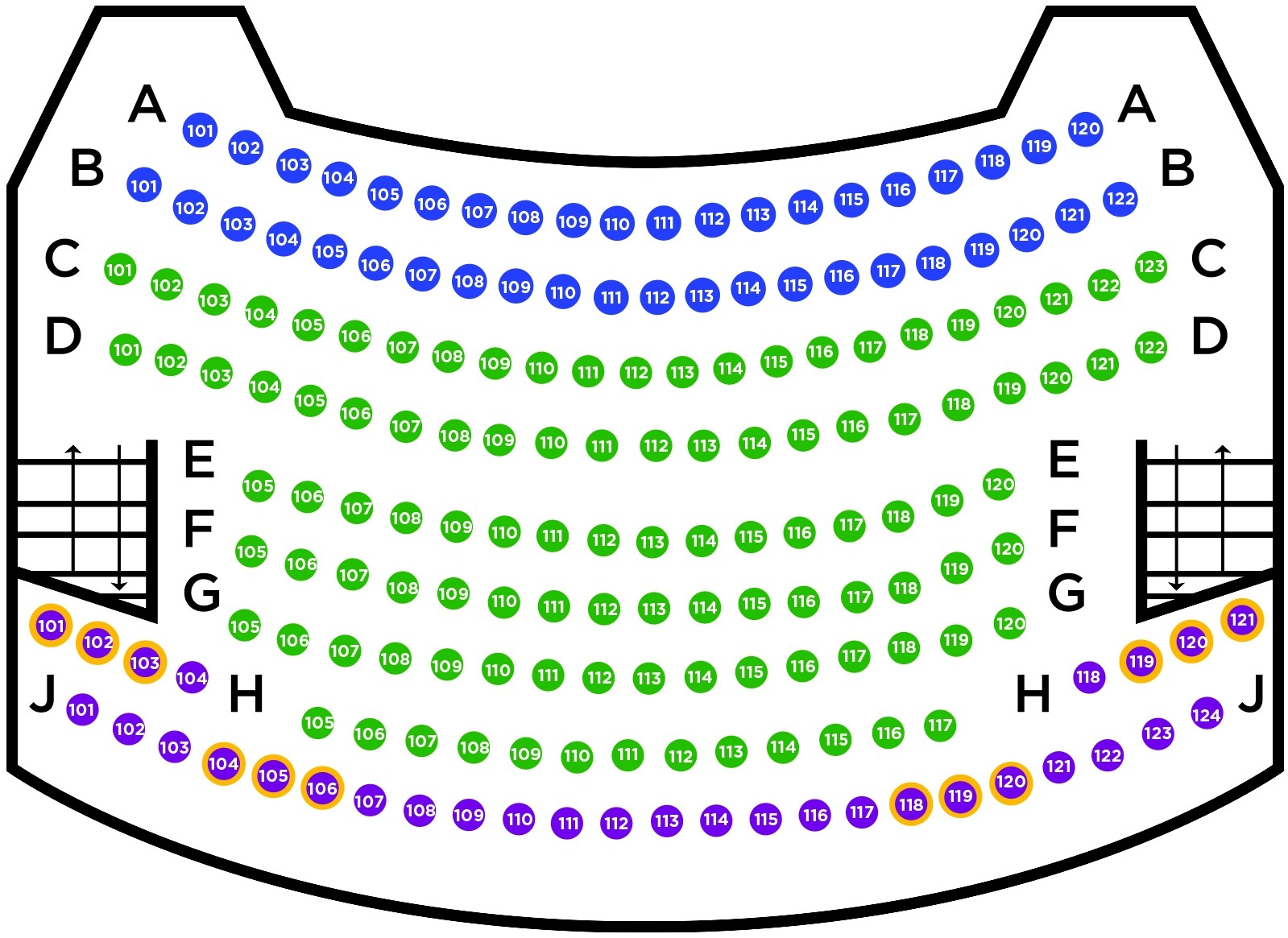 Balcony Seatmap