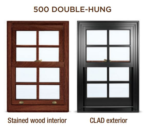 Clad Hung Windows
