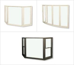 Fenêtres en baie et en arc
