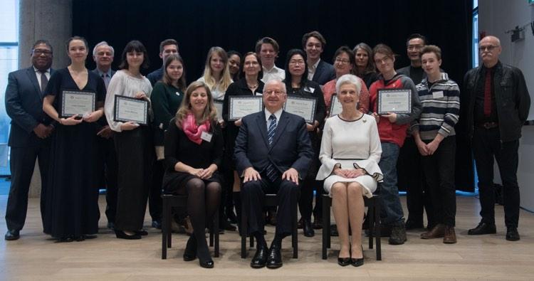 Nova Scotia Talent Trust 2018 Special Awards and scholarship recipients.