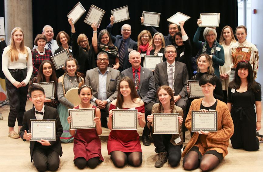 Nova Scotia Talent Trust 2019 Special Awards and scholarship recipients.