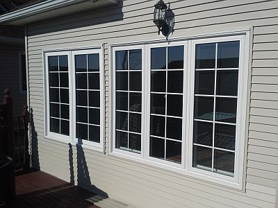 A look at an outside casement window.