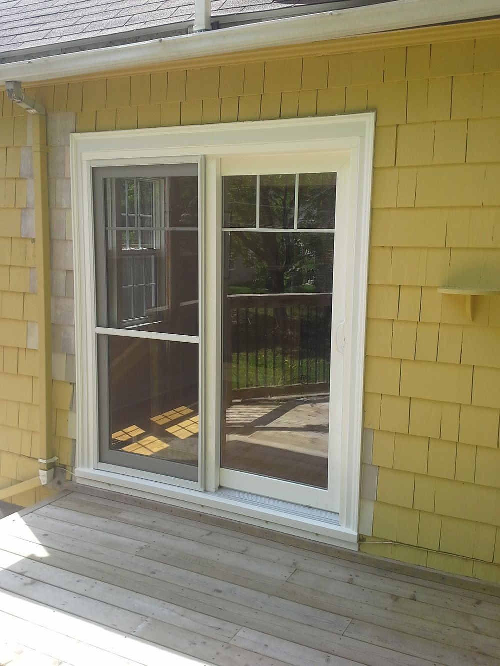 A patio door installed by the Windows Plus team.