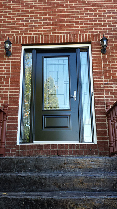 A professionally installed steel door by Windows Plus.
