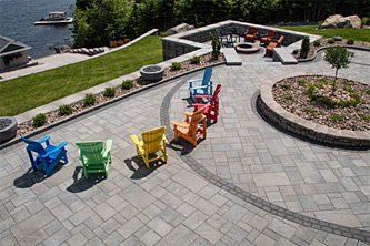Beautiful patios are one of the many jobs Xcel Landscaping does for their clients.