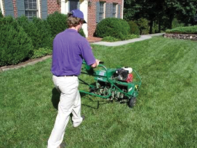 Spring and fall services like aeration, de-thatching, mulching and more.