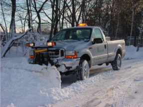 Winter services include plowing for our customers.